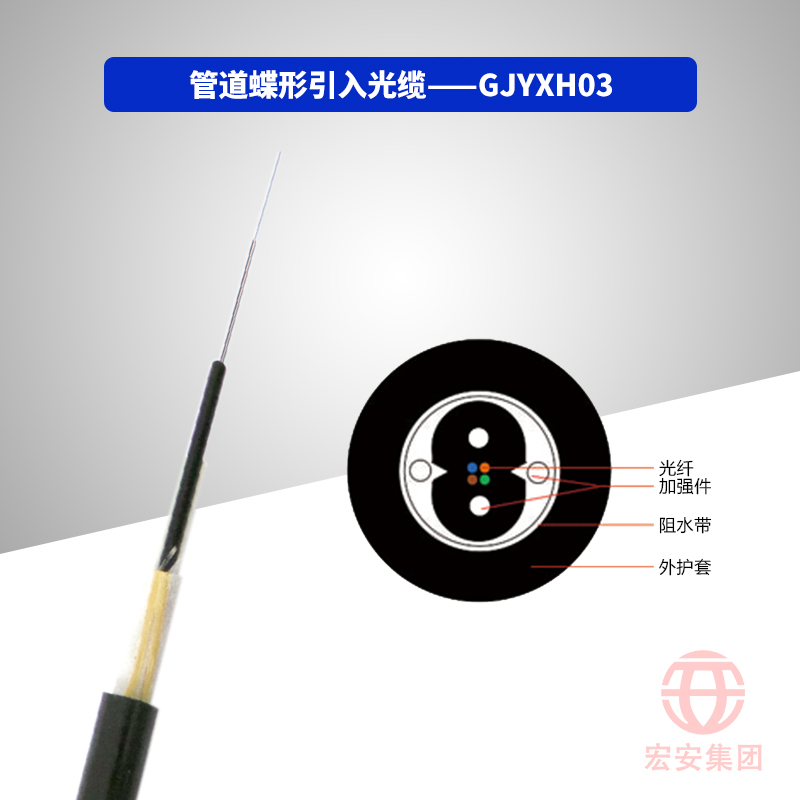 GJYXH03、GJYXFH03 管道蝶形引入光缆