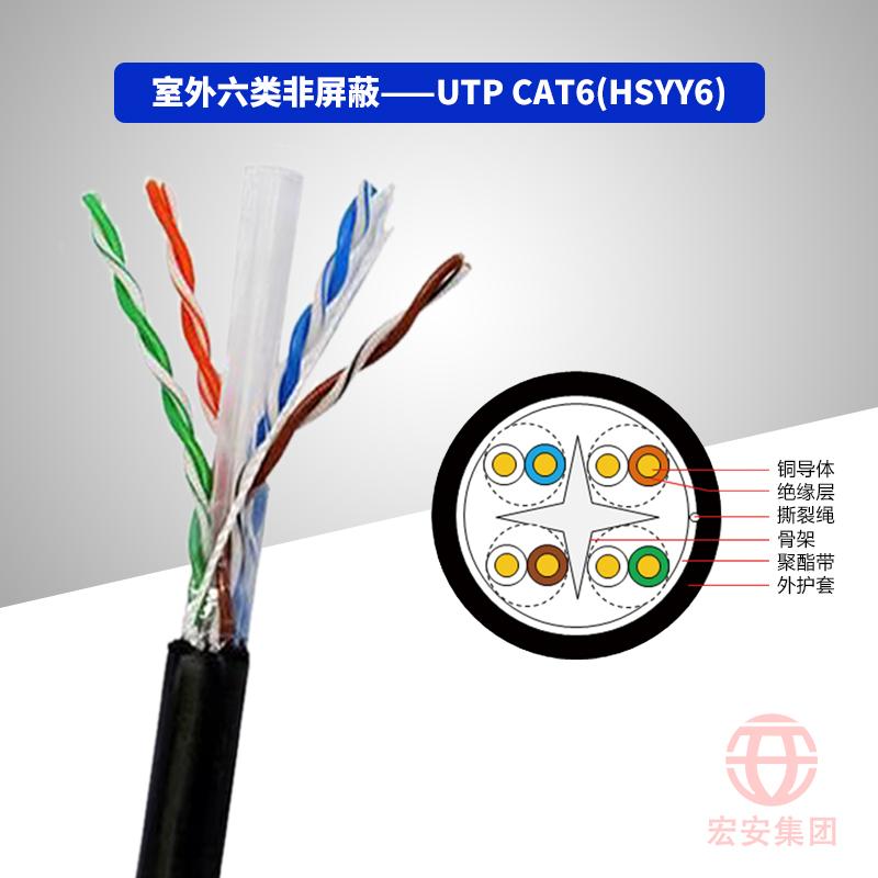 UTP CAT6(HSYY6/ HSYVY6) 室外六类非屏蔽数字通信用水平对绞对称电缆